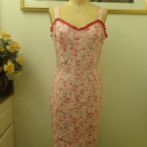 A.B.S by Allen Schwartz Pink Floral Print Dress
